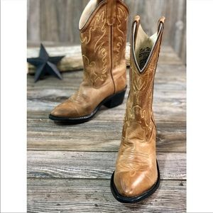 Old West Shoes - Old West Narrow J Toe Boot - Youth (Children's)
